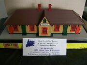 Mth Railking Lighted And Pre Built Country Passenger Station Greenville 30-90354
