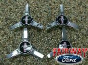 05 06 07 08 09 Mustang Oem Ford Parts Spinner Style Caps W/ Pony Logo 4pc Set