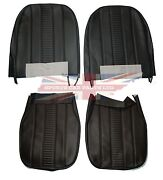 New Black Front Seat Covers Upholstery Mg Midget 1970-1979 Oe Quality Made In Uk