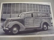 1937 Ford Woody Station Wagon 12 X 18 Large Picture / Photo