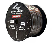 4 Ga Black Power Wire Primary Ground 250ft Copper Mix Cable Car Audio Amplifier