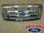 08 09 10 Super Duty F250 F350 King Ranch Oem Ford Chrome Gold Grill Grille