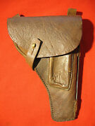 Ww2 Russian Tt Pistol Brown Leather Holster With Cleaning Rod.