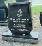 Granite Cemetery Headstone Complete Includes Engraving Free Shipping