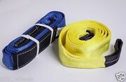 3 10 Ft Winch Tree Saver Protector Combo 26000 And 20000 Lbs Tow Strap Off-road
