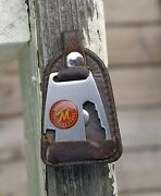 Marlboro Country Store Metal And Leather Keychain Knife Bottle Opener Tobacco