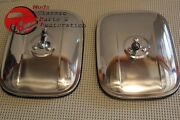 Chevy Truck Stainless Rectangular Rectangle Exterior Side Outside Mirrors 6x7.5