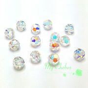 Crystal Ab 001 Ab Elements 5000 Crystal Round Beads 4mm 6mm 8mm