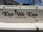 Custom Speed Boat Name And Port Of Call Decal + Shadow 8 X 24 Vinyl Lettering