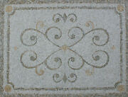 Abstract Hearts Circles Light Beige Border Home Decoration Marble Mosaic Geo2103