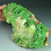 6.1lbs Large Apple Green Pyromorphite Loaded Crystal Cluster - Nice Deal P0218