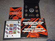 2003 And 2005 Canada Nhl All Star Stamp And Medallion Set Half Price
