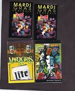 Four Mardi Gras Parade Schedules 1988-1990 Budweiser Miller And Lite Beer Sponsors