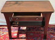 Arts And Crafts Mission Oak Craftsman Antique Office Desk / Library Table