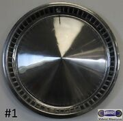 1957a-plymouth Hubcap Used 14 Polished Outer Ring 63 Painted Pockets