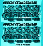 New 2 Ford 6.0 Turbo Diesel F350 Cylinder Heads 20mm Cast613 Only 06andup