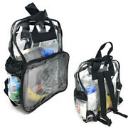 1 Dozen Clear Transparent School Security Backpack Book Bags 3 Pockets Wholesale