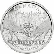 Canada 2015 White-tailed Deer Challenge 300 Pure Platinum Proof Mintage 200