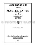 Graham Brothers Truck Parts Book 1928 1927 1926 1925 1924 1923 1922 1921 Catalog