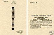 Parker Striped Duofold Us Patent Art Print Ready To Frame 1932 Fountain Pen