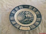 Antique Swastika Plate 1930 Piket Electric Courtenay Bc Calendar Woods Ware Vtg