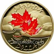 Canada 2010 Four Seasons Autumn Fall 75 Gold Proof Color Red Maple Leaf Gml