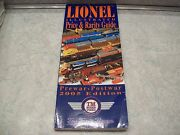 Lionel O Trains Illustrated Price And Rarity Guide 2005 Edition Pre And Post War
