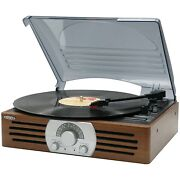 Jensen 3-speed 33/45/78 Antique Wooden Case Turntable Record Player Am/fm Stereo