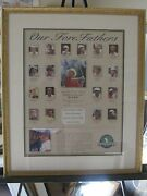 Golf Classic 1992 Bellsouth 25th Annirversary Print Our Fore Fathers