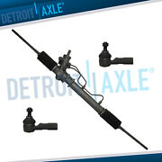 3pc Power Steering Rack And Pinion + Outer Tie Rod For Toyota Corolla Geo Prizm