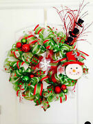 Holiday Wreaths - Red, Green, Pink, Blue, White And More Handmade Fast Shipping