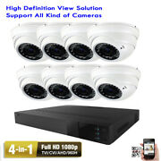8channel 4-in-1 1080p Dvr Sony Cmos 1800tvl Dome 36ir Security Camera System