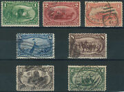 Tmm Us Stamp Group 1898 Trans Miss Expo Scott 285-91 F/vf Used/lh And Nh