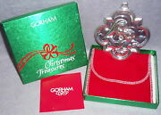 1992 Gorham Archive Serie Sterling Silver Madonna Child Christmas Ornament As Is
