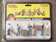 O Scale Dock Workers Woodland Scenics Train People 2729