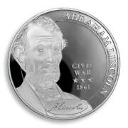 Abraham Lincoln Usa Commander In Chief President Silver Plated Civil War