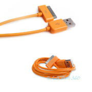 100 10ft Usb 30pin Orange Cable Data Sync Charger Samsung Galaxy Tab Tablet 10.1