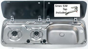 Dometic Smev 9222 Right Hand Sink And Hob Campervan Combi Unit Tap + Template