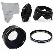 52mm Wide Angle Macro Lens + Uv Filter And Lens Hood For Nikon D3000 D3200 D3100