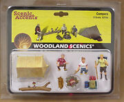 O Scale Campers Woodland Scenics Train People 2754