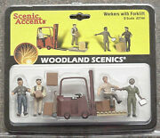 O Scale Forklift Set And Workers Woodland Scenics Train People 2744