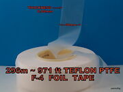296m971ft Teflon Ptfe F-4 Foil Tape 0.04mmx50mm Ussr Mylitary Factory Pack