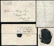 Scotland 1838 Peebles Penny Post + Chinese Seal...long Letter Grant To Berry