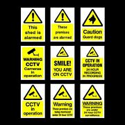 Cctv Security Camera Plastic Sign Sticker - All Materials And Sizes - Your Design