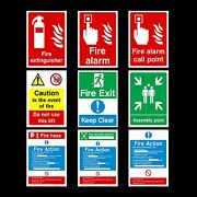 Fire Action / Alarm / Assembly Plastic Sign Sticker - All Materials And Sizes