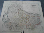 Antique Map India Northern - From The College Atlas For Schools+families 1860