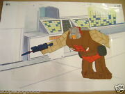 Transformers Headmasters Autobot Chromedome Anime Production Cel And Background 2