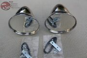 Gt Talbot Shelby British Style Fender Door Mounted Race Racing Mirrors Chrome