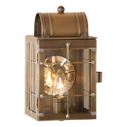 Entry Door Wall Light Weathered Brass Colonial Candle Lantern Outdoor Sconce