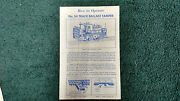 Lionel 54 Track Ballast Tamper Instructions Photocopy